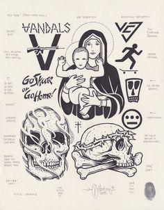 originalgiantcontent: Vandals by Mike Giant, 2014.