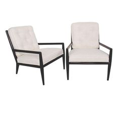 Pair of Modernist Lounge Chairs designed by T.H. Robsjohn Gibbings | From a unique collection of antique and modern lounge chairs at http://www.1stdibs.com/furniture/seating/lounge-chairs/