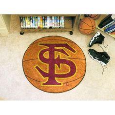"Florida State Seminoles NCAA Basketball"" Round Floor Mat (29"") FS Logo"""