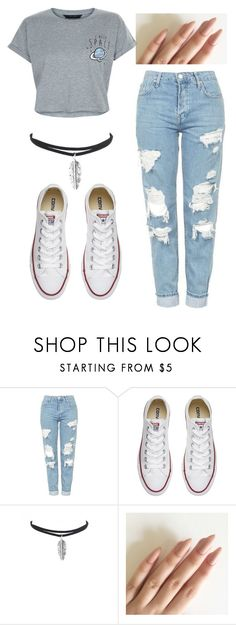 """Untitled #90"" by marija-jozic on Polyvore featuring Topshop, Converse and New Look"