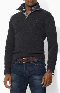 "For: boyfriend, brother, father. ""Horse power, all this Polo I got horsepower"" :P Ralph Lauren Polo 1/4 zip sweater"