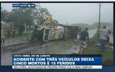 Galdino Saquarema Noticia: Acidente com três veículos deixa cinco mortos no RJ