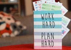 Work Hard Plan Hard Sticker Organizer