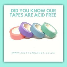 Our washi tape is acid free, it will leave no residue. Perfect for scrapbooking and journals Washi Tape, Journals, Scrapbooking, Tips, Cotton, Free, Journal Art, Scrapbooks, Journal