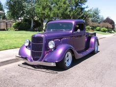 ['35 Ford Pickup Truck . PURPLE Ford Pickup] ...