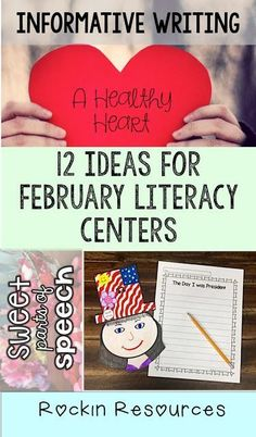 These ideas for February are so cute and my students will love them!  There is such a variety of writing:  Narrative, Opinion, Informative, Persuasive.  Love it!