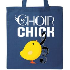 Choir Chick Music Gift Tote Bag Royal Blue $15.99 www.schoolmusictshirts.com