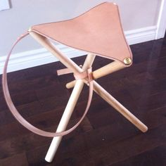 Leather Working - Camp stool is finished.