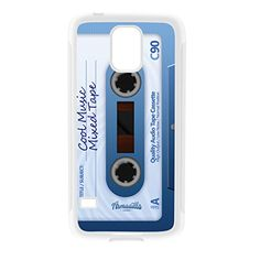 Retro Gadgets Mixtape Cassete White Silicon Rubber Case for Galaxy S5 by DevilleArt  FREE Crystal Clear Screen Protector * More info could be found at the image url. (Note:Amazon affiliate link) #CellPhonesAccessories