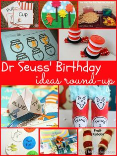Our Thrifty Ideas - Dr Seuss' Birthday Ideas Round-up - #party