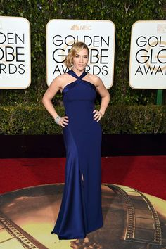 Kate Winslet vestida por Ralph Lauren. Globos de oro 2016 #GoldenGlobeAwards
