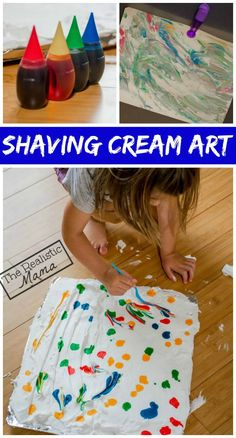 Shaving Cream Art | Marbled Prints - The Realistic Mama