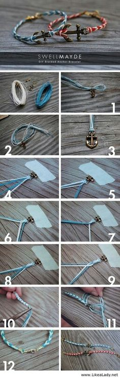 Making these Anchor Bracelets