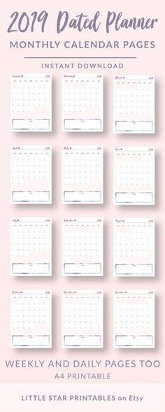 This beautiful planner is an printable PDF designed specifically to organise your chaos. Week Planner, Daily Planner Pages, Weekly Calendar, Calendar Pages, Bujo, Monthly Review, Monthly Planner Printable, Daily Page, Little Star