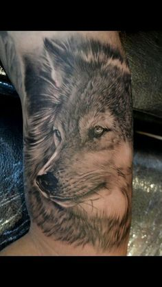 wolf tattoos is one of best tattoo design for anyone who looking for a totally beautiful and incredible design. wolf tattoos was uploaded on November Discover, save and rate your favorite tattoos and get inspired. Tattoos Lobo, Wolf Tattoos Men, 3d Tattoos, Great Tattoos, Trendy Tattoos, Beautiful Tattoos, Body Art Tattoos, Tattoos For Guys, Tatoos
