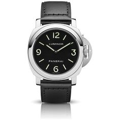 Panerai Men's Luminor Marina Base Manual Wind Watch (279,020 PHP) ❤ liked on Polyvore featuring men's fashion, men's jewelry, men's watches, stainless steel and watches