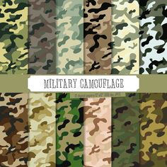 6e662d3bba Buy 2 Get 1 Free! Digital Papers Military Camouflage