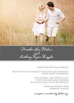 Wedding Invitation with photo - Strength