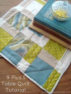 9 Plus 1 Table Quilt Tutorial