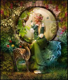 """*+*Mystickal Faerie Folke*+*... """"Alcove Vigne """" By Artist Roserika on deviant Art..."""