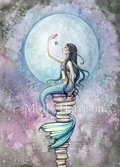 Check out this item in my Etsy shop https://www.etsy.com/listing/225740547/magic-mermaid-watercolor-illustration