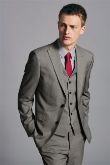 Buy Stone Flannel Slim Fit Suit: Jacket from the Next UK online ...