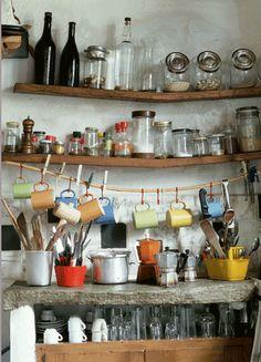love the bowed shelves.