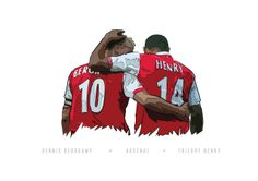 Dennis Bergkamp & Thierry Henry illustration by KieranCarrollDesign