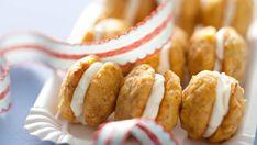 Les mini whoopie pies carottesNormalement servis en dessert, ces whoopie pies peuvent être un joli amuse-bouche sucré salé.Voir la recette des mini whoppie pies carottes