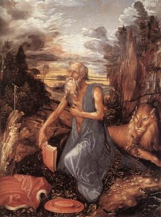 Albrecht Dürer - Saint Jerome in the Wilderness