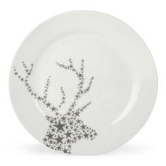 Assiette plate blanche et argentée - Fauna - Les assiettes plates - Assiettes - Arts de la table - Décoration d'intérieur - Alinéa