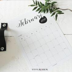 bijdeb: Free printable maand kalender Februari 2017...