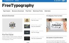 FreeTypography es una página que ha recopilado una gran selección de tipografías gratuitas. Fuentes de texto de todos los estilos para tus proyectos.