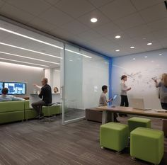 collaborative office space. Divided Working Space Using Informal Elements Of Furniture And Integrated Technology. Collaborative Office O
