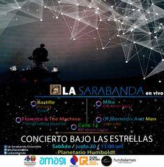 Concierto Bajo las Estrellas - Música Indie - Planetario Humboldt - Parque del Este - Caracas - 2015 - La Sarabanda
