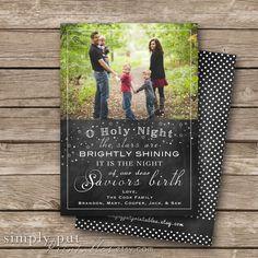 Christmas Chalkboard Photo Card  O Holy by SimplyPutPrintables, $15.00