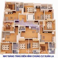 mặt bằng thiết kế tổng thể chung cư mini gần Xuân La Từ Liêm
