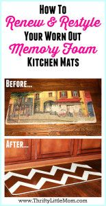 Renew and Restyle your Memory Foam Kitchen Mat