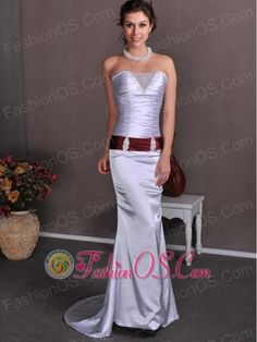 Lilac Column Strapless Beading and Ruch Wedding Dress Brush Train Elastic Wove Satin- $222.48http://www.fashionos.com fitted floor length lilac wedding dress   lilac strapless wedding dress   multi colored wedding dress   lilac wedding dress  