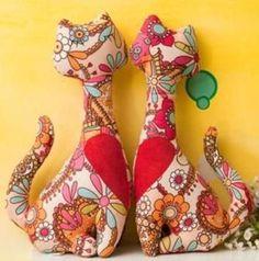 Формы для ремесел Ткань: Cat Estampadinho | куклы игрушки | Постила