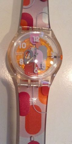 Swatch Pink Nostalgy SUJK127 Women's Watch 2007 Collection Analog Dial #Swatch #Fashion
