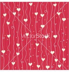 Heart pattern vector on VectorStock®