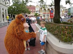 Kids at Disney in March 2006