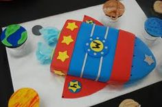 Rocketship cake