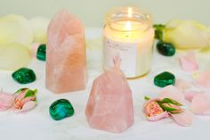 Love Rituals with Rose Quartz Points from the Energy Muse Crystals And Gemstones, Stones And Crystals, Fertility Crystals, Mending A Broken Heart, Natural Birth, Pregnancy Tips, Getting Pregnant, Acupuncture, Acupressure
