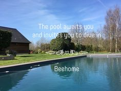 The heated pool is open ! The pool has a granite colored lining ressembling a river and perfectly accentuating the natural environment. Water treatment salt electrolysis system & electric security cover. Pool dimensions: 13x5m Depth: 80 cm to 2,20 meters. www.beehome.fr