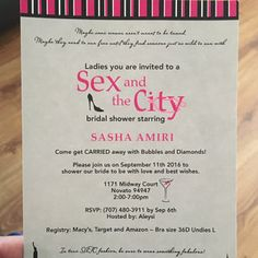 sex and the city bridal shower invitation diy digital file