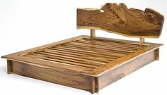 Natural Wood Furniture Platform Bed - Design - Item # - handcrafted from solid wood - no veneers - Available in Queen and King Rustic Bedroom Furniture, Rustic Bedding, Log Furniture, Wood Bedroom, Furniture Design, Furniture Stores, Furniture Online, Bedroom Rustic, Rustic Nursery