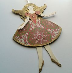 Angel Paper Doll Angel Decoration Christmas Angel by JuliaPeculiar