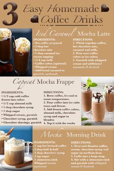 coffee ideas 3 Easy homemade coffee drinks for coffee lovers everywhere. These coffee recipes go hand in hand with any of our specialty coffees. For all about coffee, and coffee ideas, us for more content! Ninja Coffee Bar Recipes, Coffee Drink Recipes, Starbucks Recipes, Starbucks Drinks, Iced Coffee Blender Recipe, Healthy Coffee Drinks, Keurig Recipes, Frozen Coffee Drinks, Cold Coffee Drinks